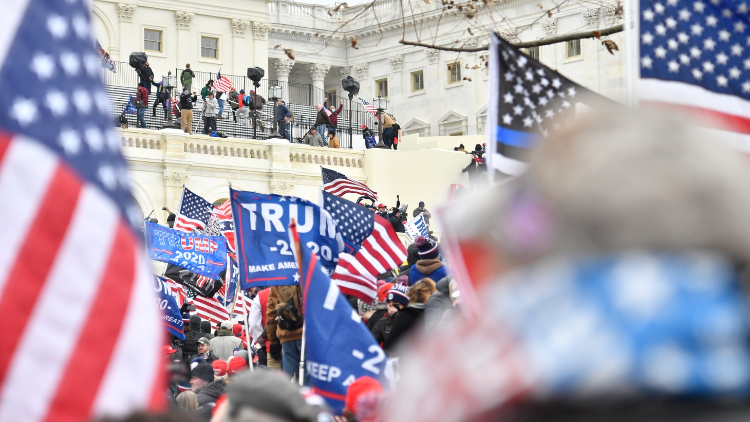 Riots at the US Capitol, in Washington D.C., January 6th.
