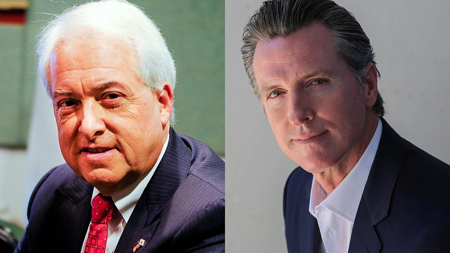 A debate between Gavin Newsom and John Cox hosted by KQED.