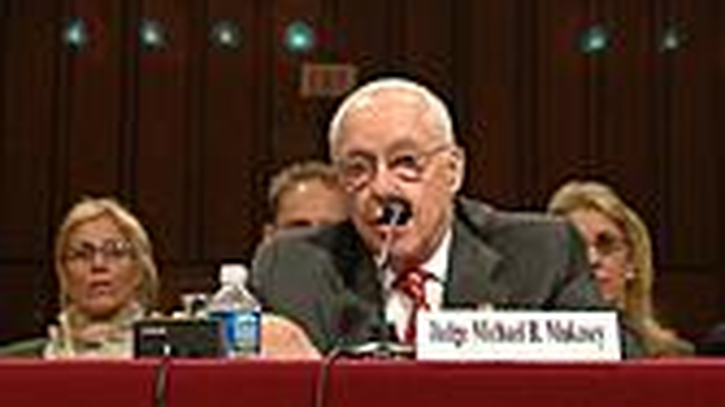NPR News offers an hour-long news special on the Senate Judiciary Committee hearings on the nomination of Michael B. Mukasey to be Attorney General of the United States. Nina Totenberg hosts with Ron Elving, NPR's Senior Washington Editor. (This 6:30-7:30pm special pre-empts Which Way, LA?.)