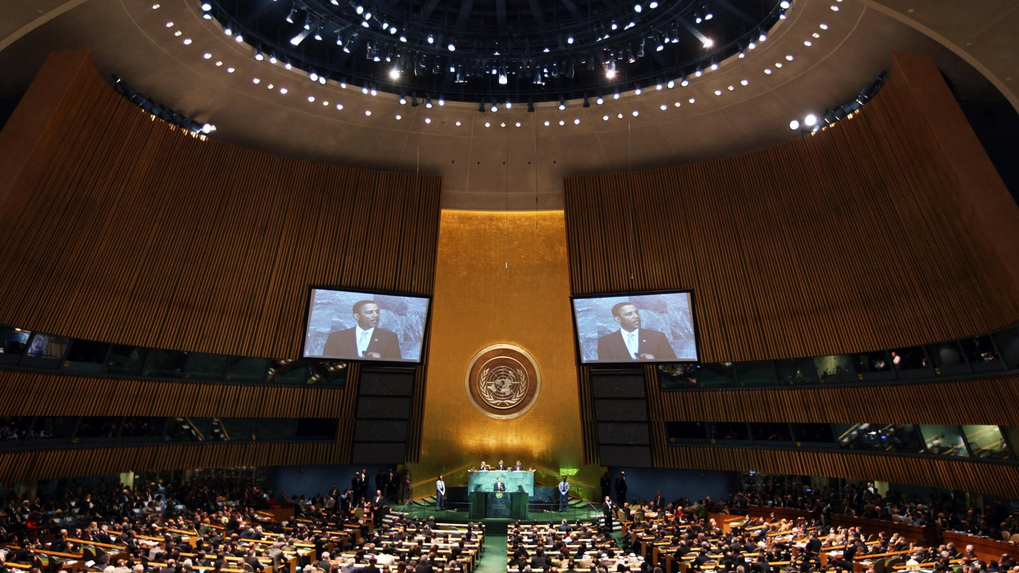 NPR News will provide anchored live coverage of President Obama's address to the UN General Assembly on Wednesday morning, September 23. The President is expected to begin speaking at 7am DST. Neal Conan hosts with NPR National Political Correspondent Mara Liasson and others in the studio.