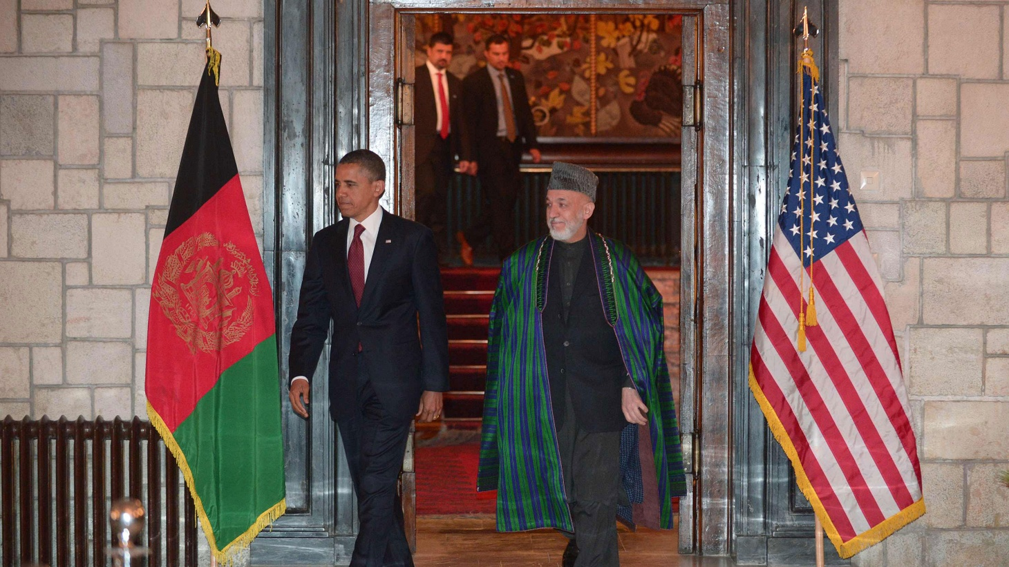 President Obama in a televised address from Afghanistan on the new US-Afghan security agreement that details America's role after the withdrawal of US and NATO troops. 4:30pm