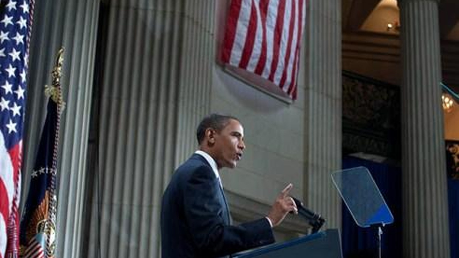 President Obama is on Wall Street this morning to mark the first anniversary of the collapse of Lehman Brothers. The President is expected to outline changes needed to avert a future global crisis like the one that threw the economy into a tailspin. NPR News will provide live coverage of President Obama's address at9:10am.