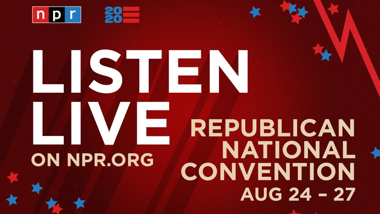 The four-day Republican National Convention got underway Monday and   NPR   has live coverage as the GOP re-nominates President Donald Trump as their candidate.