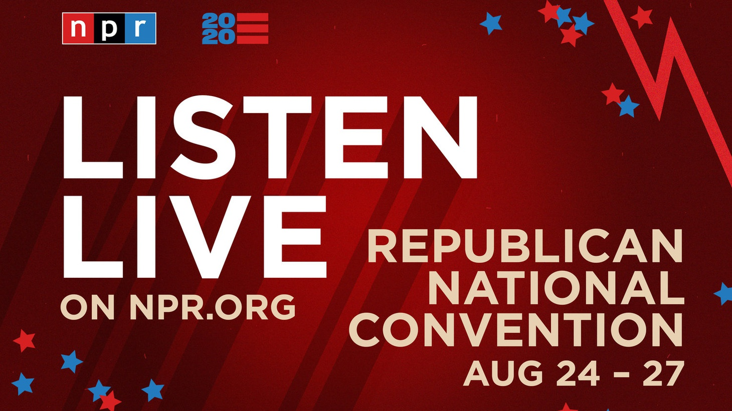 The four-day Republican National Convention got underway Monday and  NPR  haslive coverage as theGOP re-nominates President Donald Trump as their candidate. Tune into KCRW at 6-8pm PST for the full coverage.