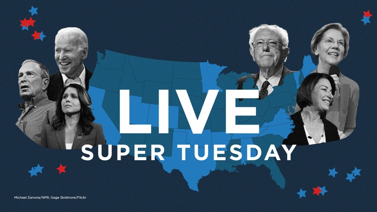 Follow NPR's live coverage of the 2020 Super Tuesday contests, including results and analysis.