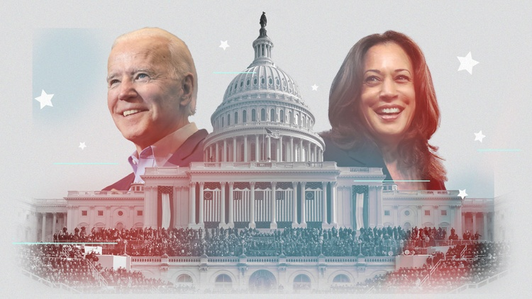 Joe Biden and Kamala Harris are being sworn in as the president and vice president of the United States.