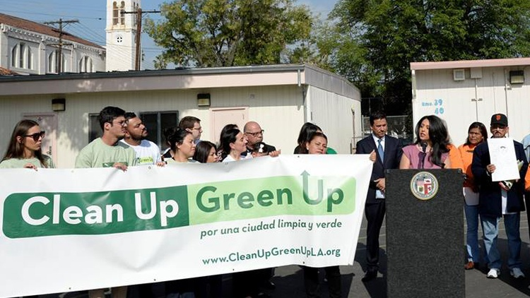 Three Los Angeles neighborhoods are the target of Clean-Up Green Up, legislation passed by the Los Angeles City Council.