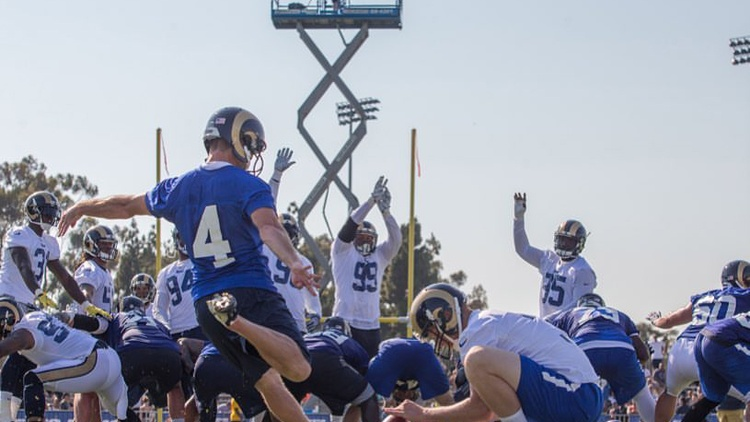Twenty-one years after the last professional football game was played in Los Angeles, the Rams will hit the field at LA's Coliseum in just a few weeks.