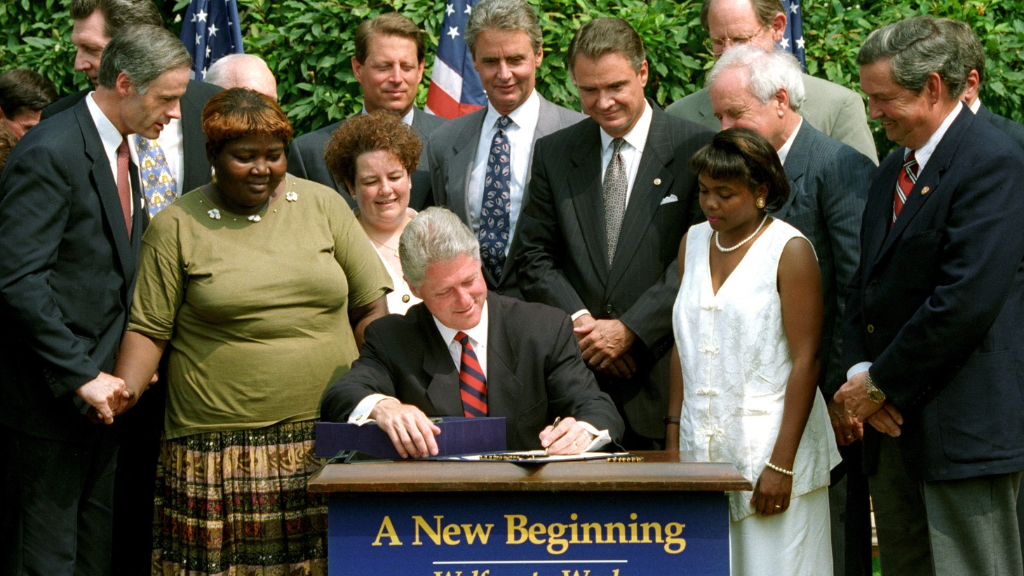 """President Bill Clinton signed """"welfare-to-work"""" reform 20 years ago, radically overhauling the nation's welfare system. Did the law spur people to get jobs or are poor people in worse shape now, a generation later?"""