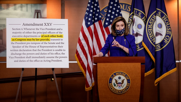 This morning, House Speaker Nancy Pelosi introduced a bill that would create a commission to examine the president's mental and physical health, and explore whether or not his powers…