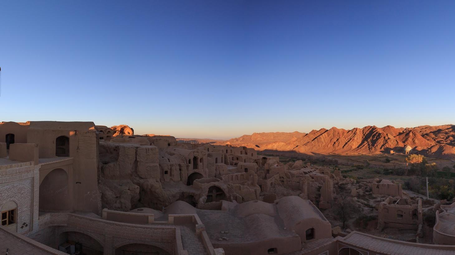 Kharanaq at sunset near Yazd, Iran.