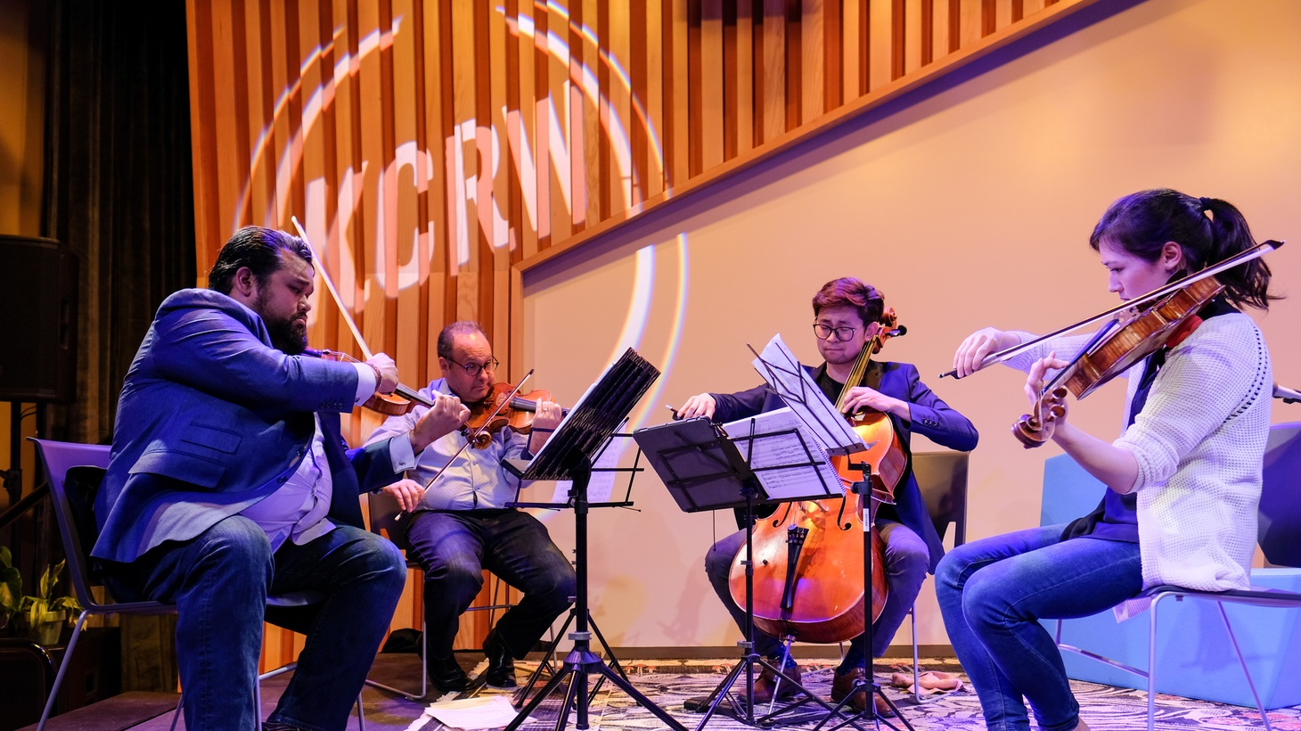 The Street Symphony quartet performing at KCRW.