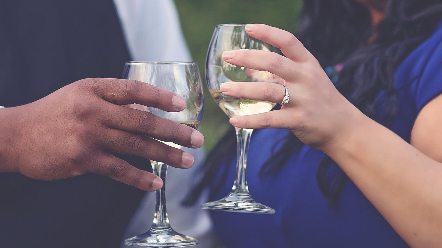 A couple's toast.