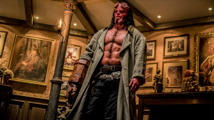 "Our critics review ""Hellboy,"" a superhero movie starring David Harbour; ""Teen Spirit,"" a drama/musical starring Elle Fanning; ""Missing Link,""a stop-motion animation starring Hugh…"