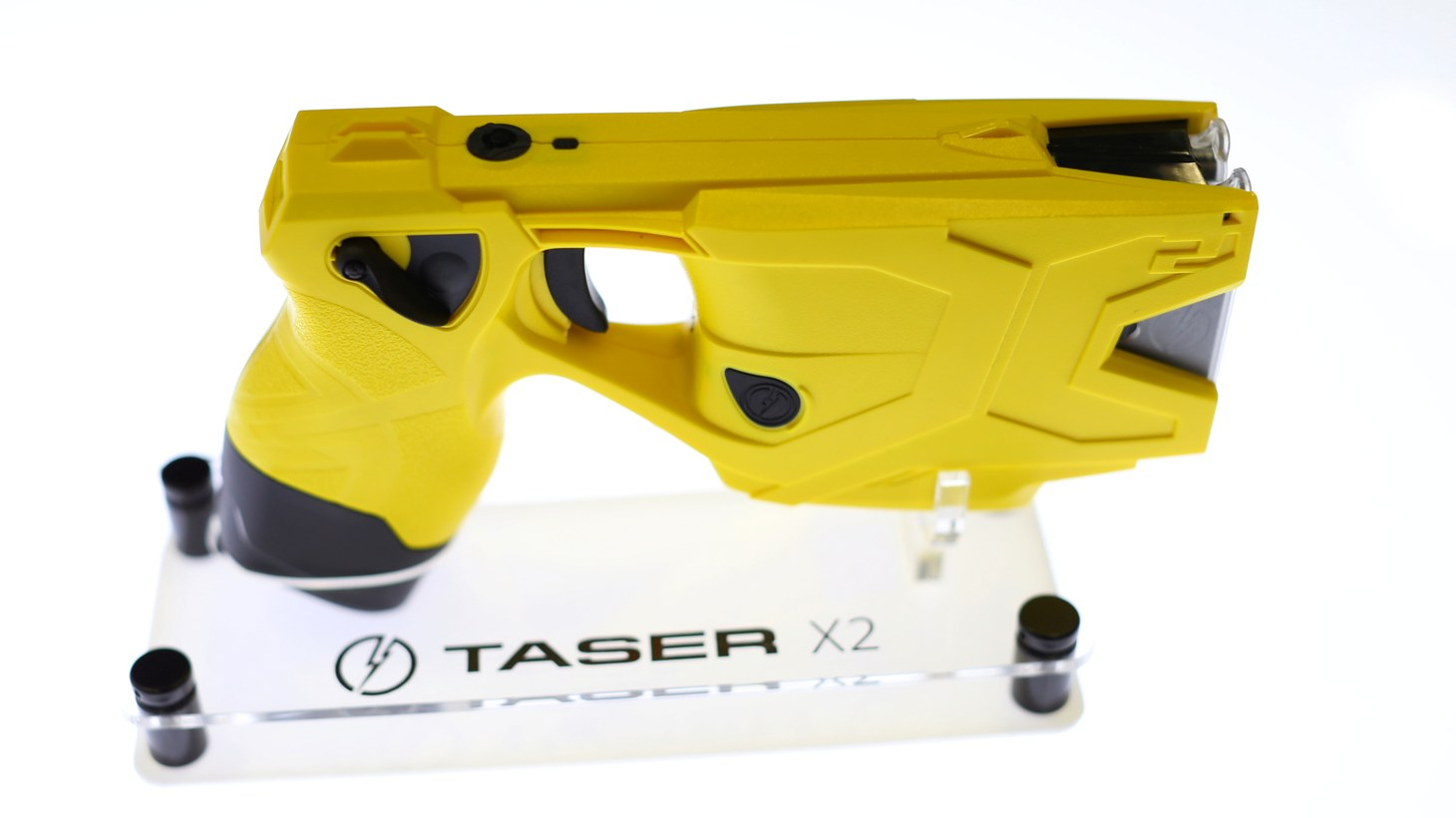 The Taser X2 gun is on display at the International Association of Chiefs of Police conference in San Diego, California, U.S. October 17, 2016.