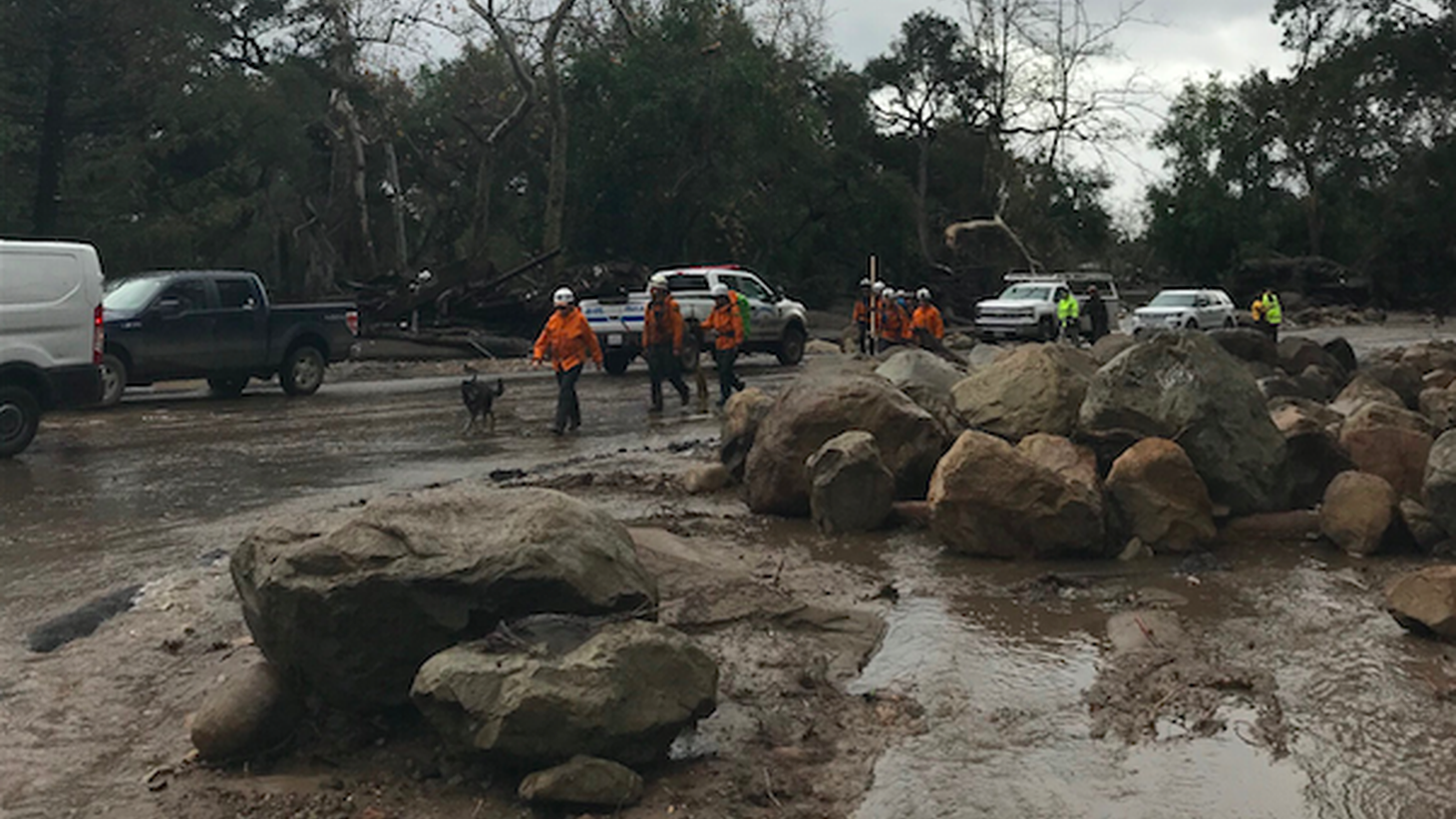 Heavy rains and mudslides near Santa Barbara have become deadly. Several people have died and more are trapped in their homes. A 30-mile stretch of the 101 freeway from Ventura to Santa Barbara is closed due to mud.