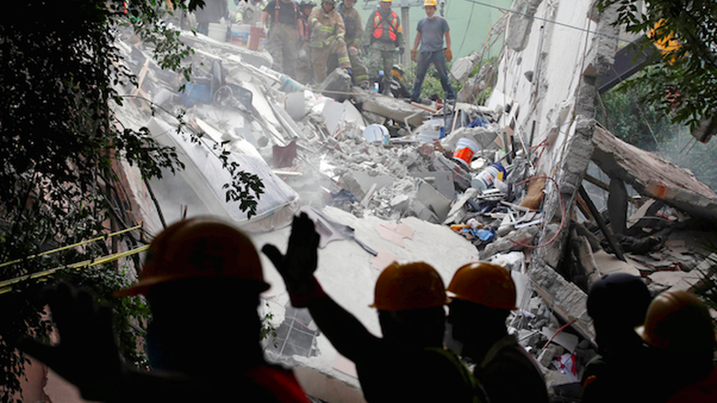 We get the latest from Mexico City on the 7.1 magnitude earthquake that struck yesterday, and the rescue efforts. Hundreds of people have died. Buildings collapsed. We look at why Mexico City is particularly vulnerable to destruction from earthquakes. And will California ever get an early warning system?
