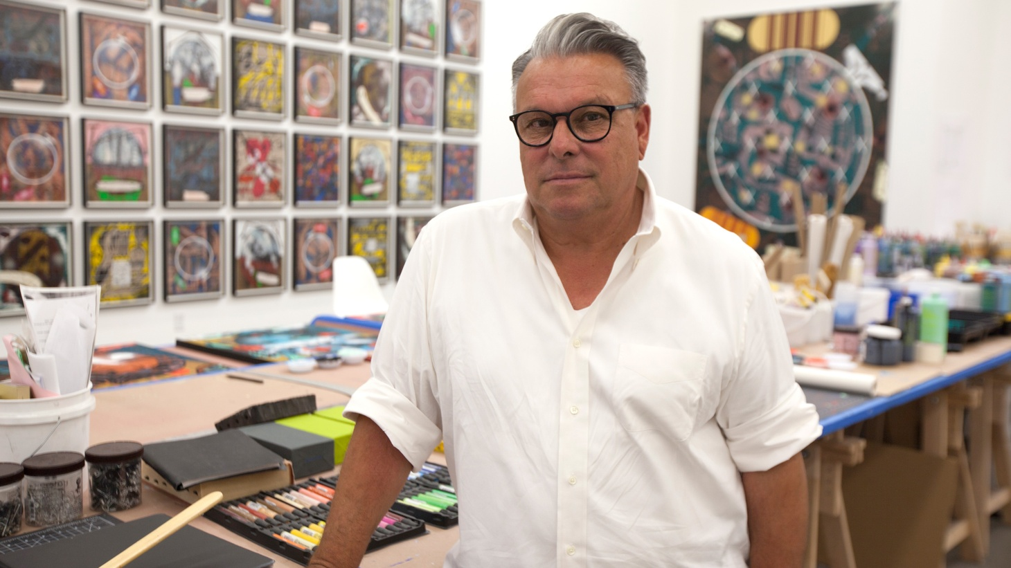 Lari Pittman's work has been shown at every major museum in LA. He's on the board at MOCA and the Hammer. He's been a tenured professor at UCLA since the late '90s.