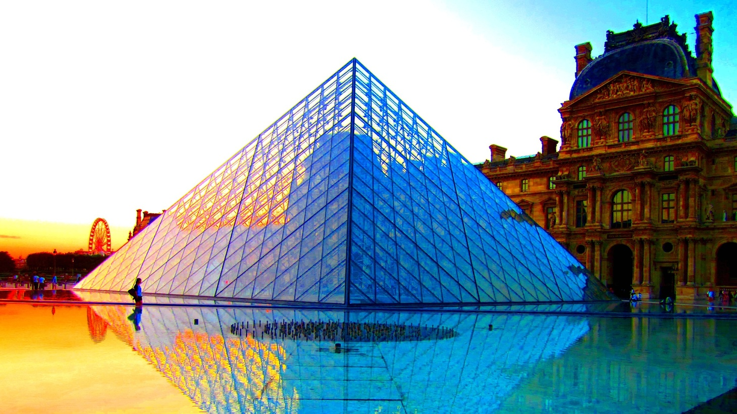The Louvre Pyramid, designed by architect I.M. Pei.