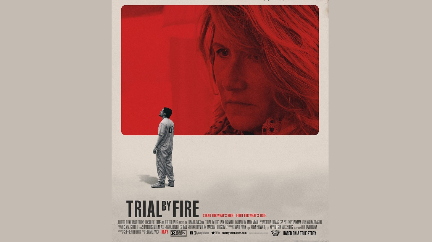 "The film poster for ""Trial By Fire."""