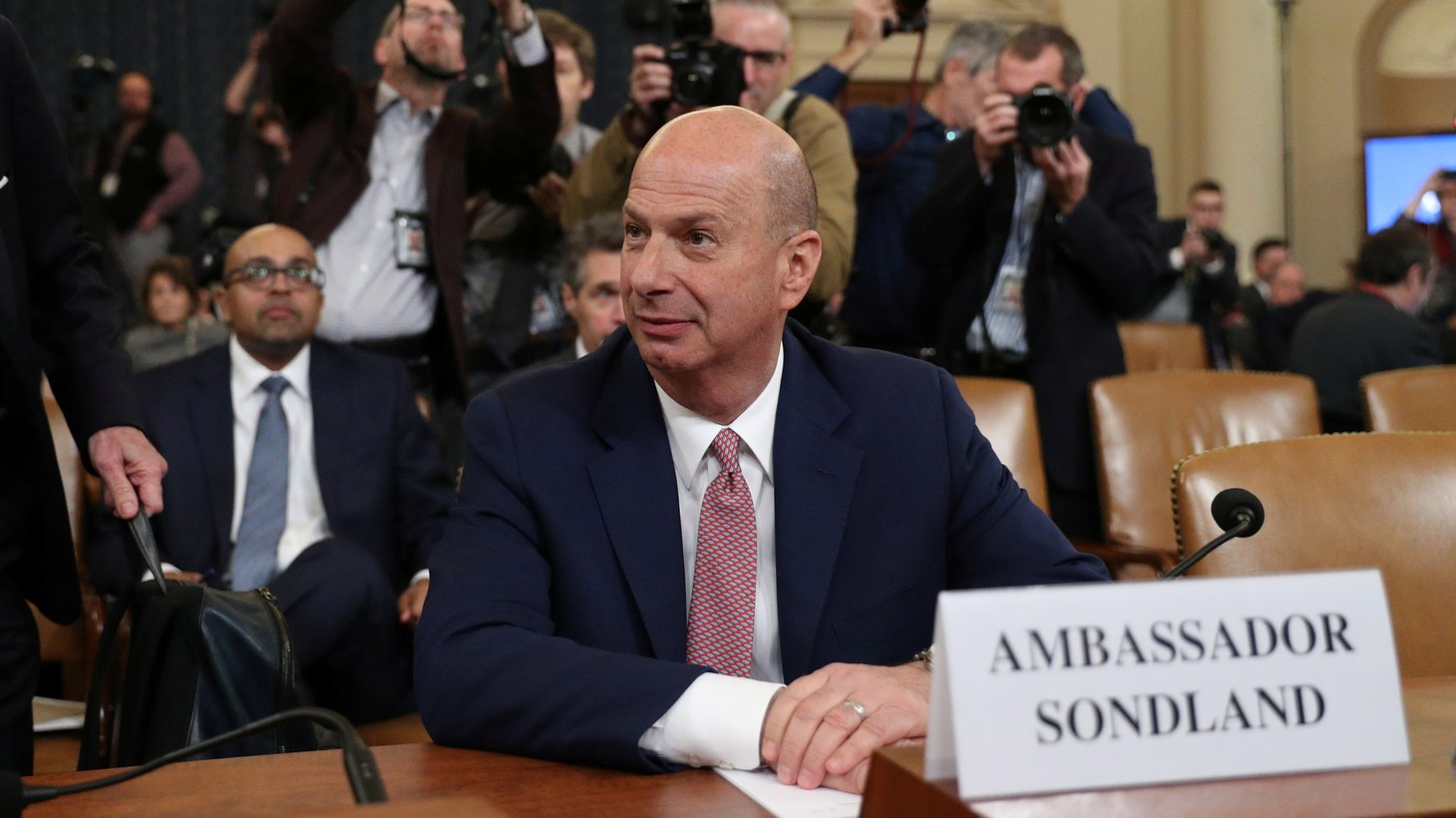 U.S. Ambassador to the European Union Gordon Sondland attends a House Intelligence Committee hearing as part of the impeachment inquiry into U.S. President Donald Trump on Capitol Hill in Washington, U.S., November 20, 2019.