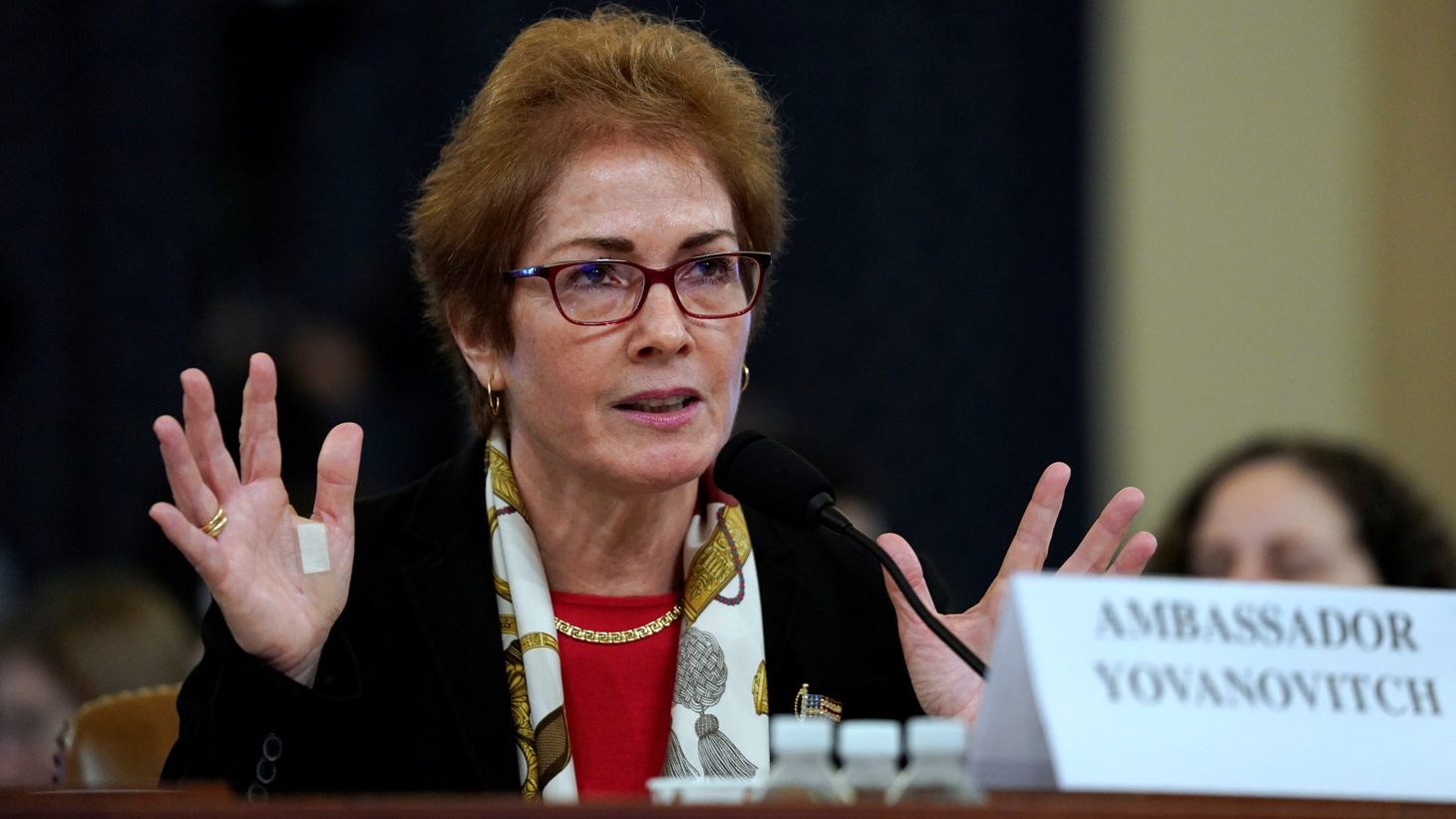 Marie Yovanovitch, former U.S. ambassador to Ukraine, testifies before a House Intelligence Committee hearing as part of the impeachment inquiry into U.S. President Donald Trump on Capitol Hill in Washington, U.S., November 15, 2019.