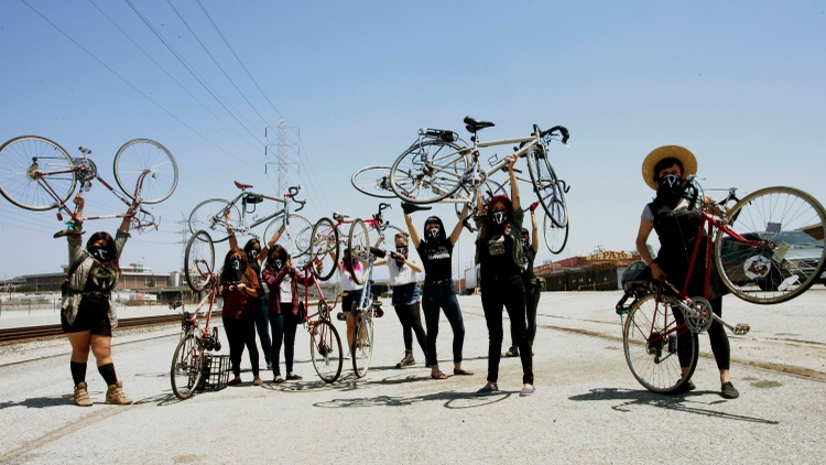 In East LA, young women of color have formed a cycling group called Ovarian Psycos. Many of them are trying to recover from trauma and abuse.