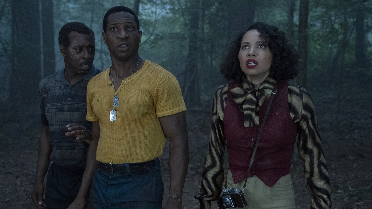 "Courtney B. Vance, Jonathan Majors, and Jurnee Smollett star in ""Lovecraft Country."""