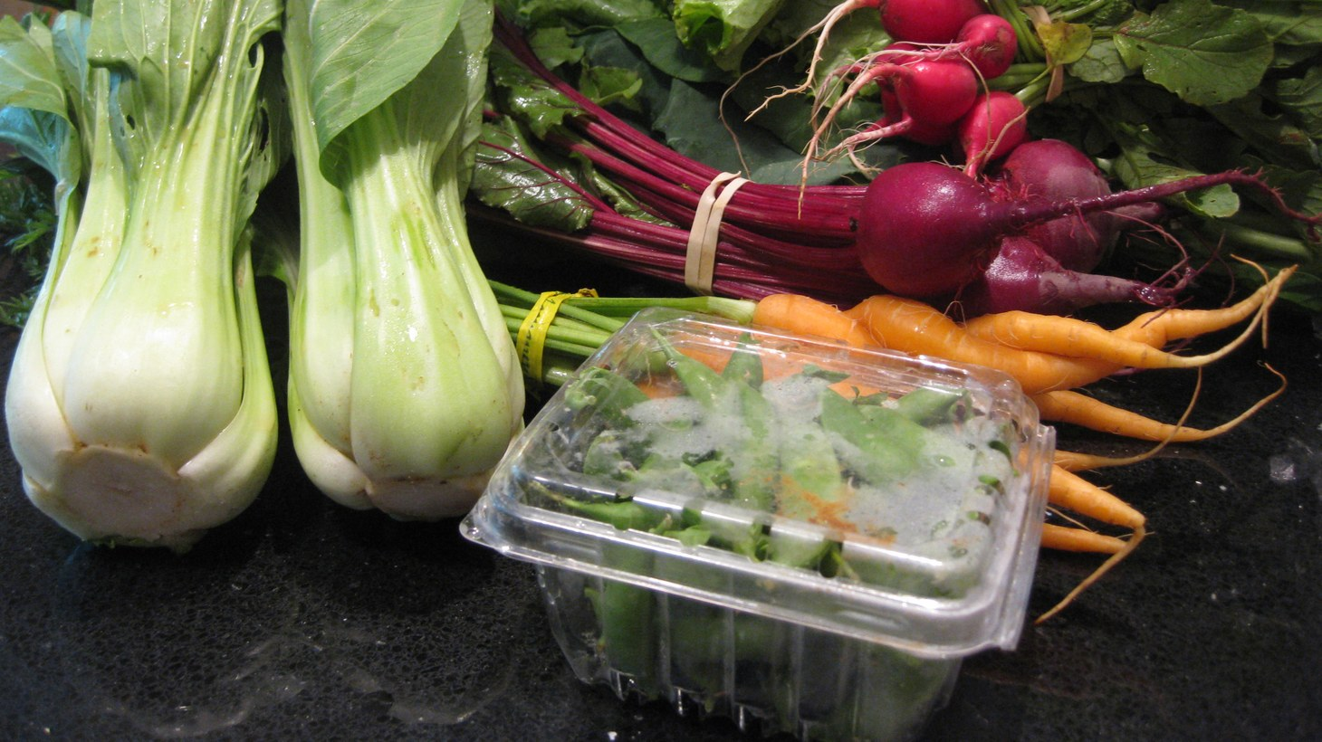 All sorts of vegetables come in a community-supported agriculture (CSA) box.
