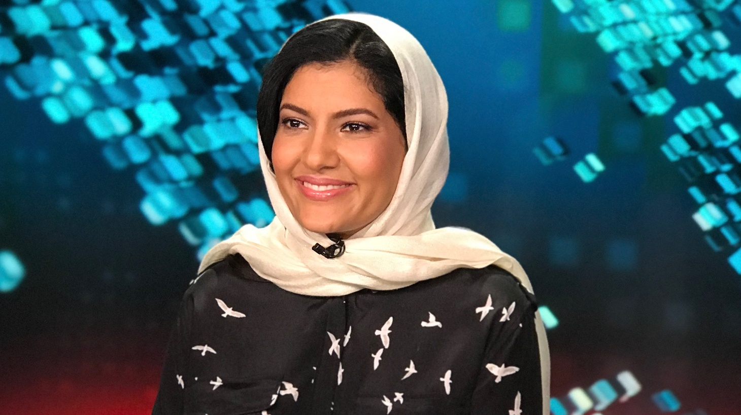 Princess Reema at CNN Headquarters in Los Angeles on June 25th, 2018.
