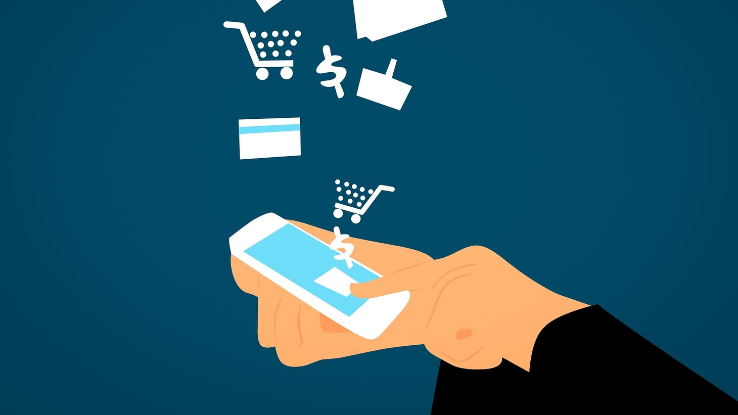 Digital commerce illustration.
