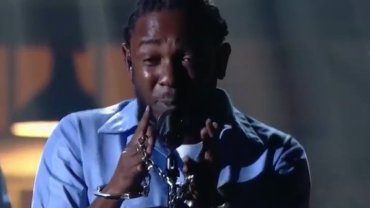 Last night at the Grammy Awards, Kendrick Lamar gave an electrifying performance about being black in America.