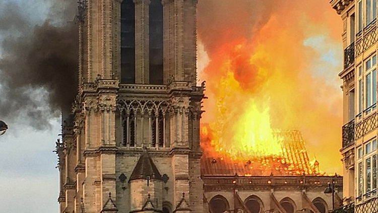 The Cathedral of Notre-Dame in Paris is burning. The world has just watched its spire fall. The cause of the fire is still unknown.