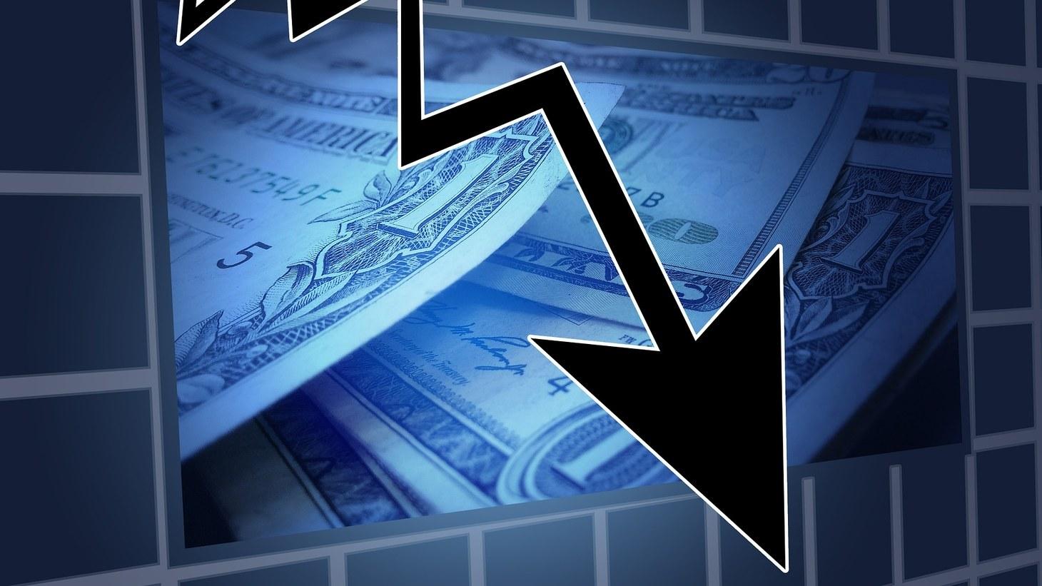 Stocks downward trend.