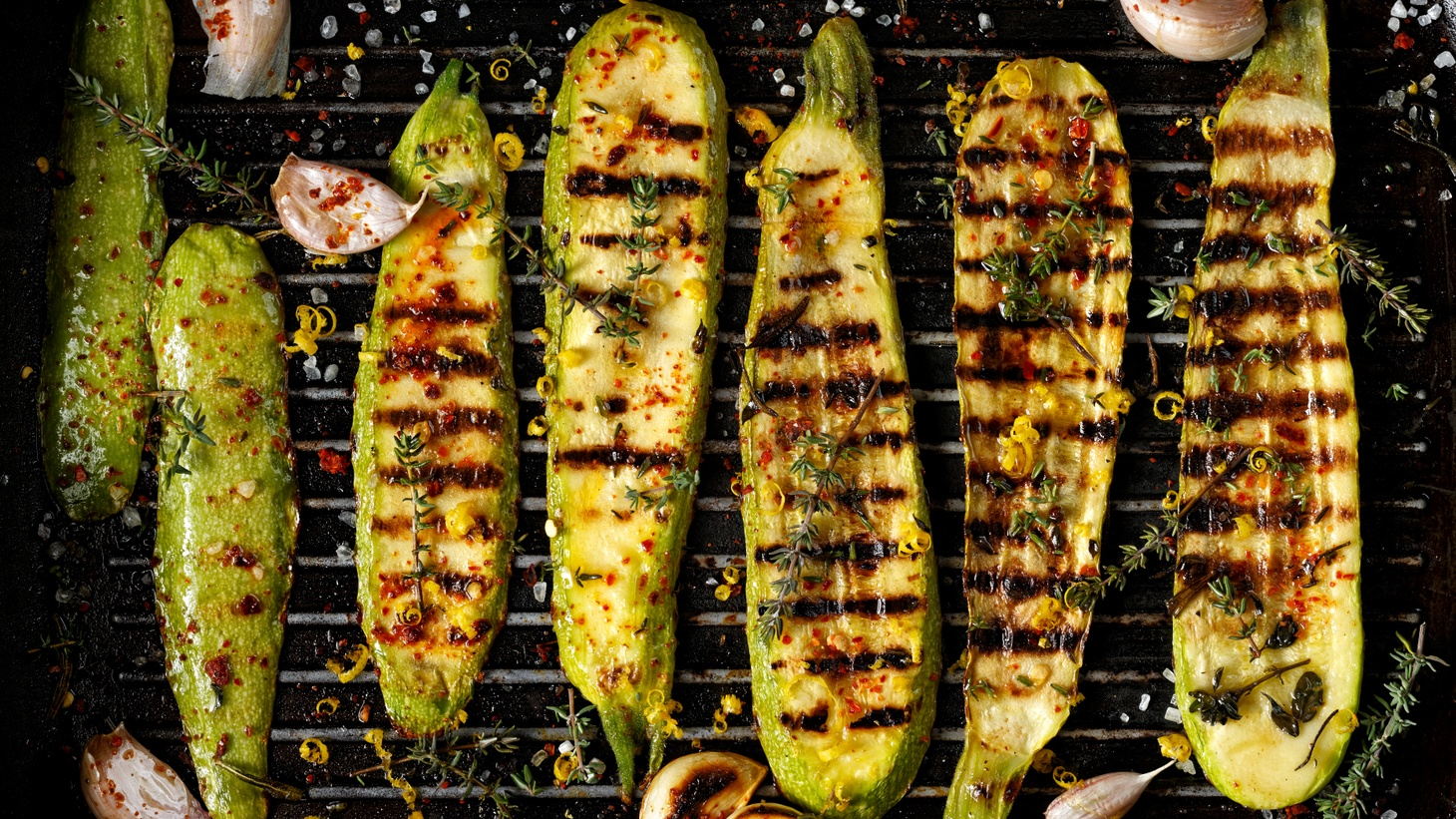 One way to make zucchini: slice thickly lengthwise for grilling.
