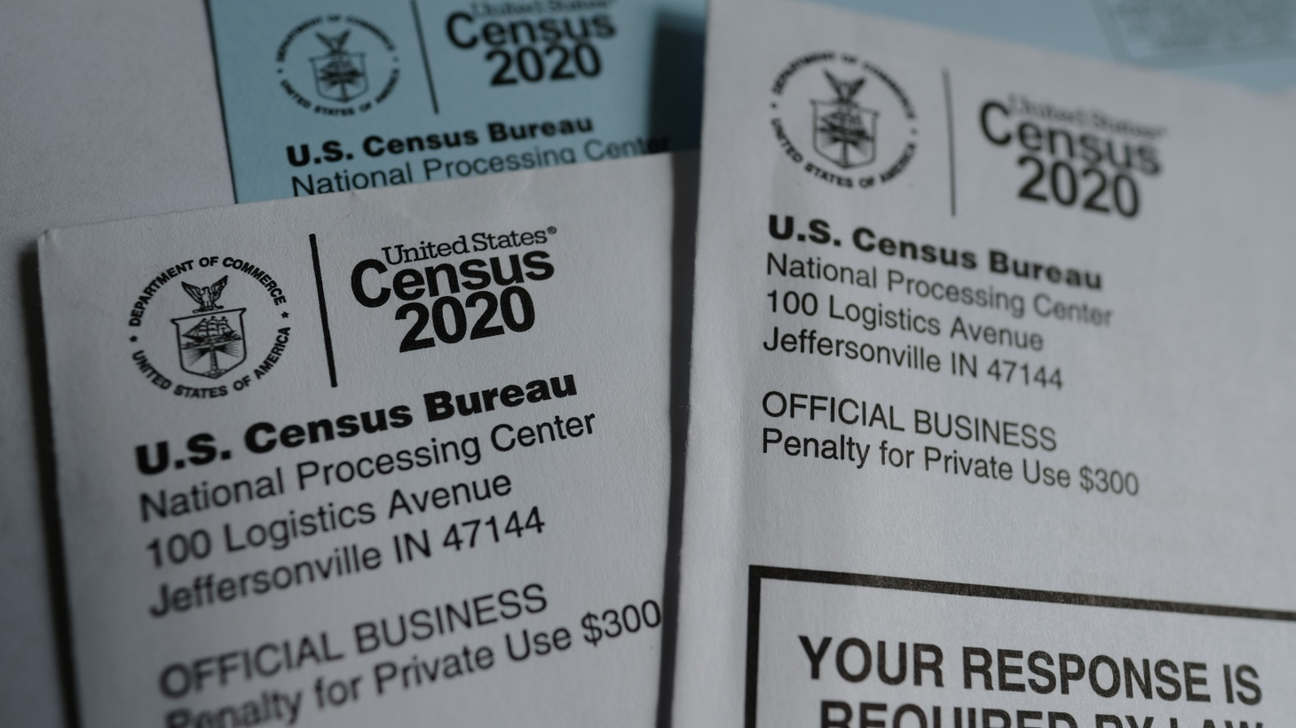 Mail containing information on the 2020 Census from the United States Census Bureau pictured in Portland, Ore., on April 6, 2020.