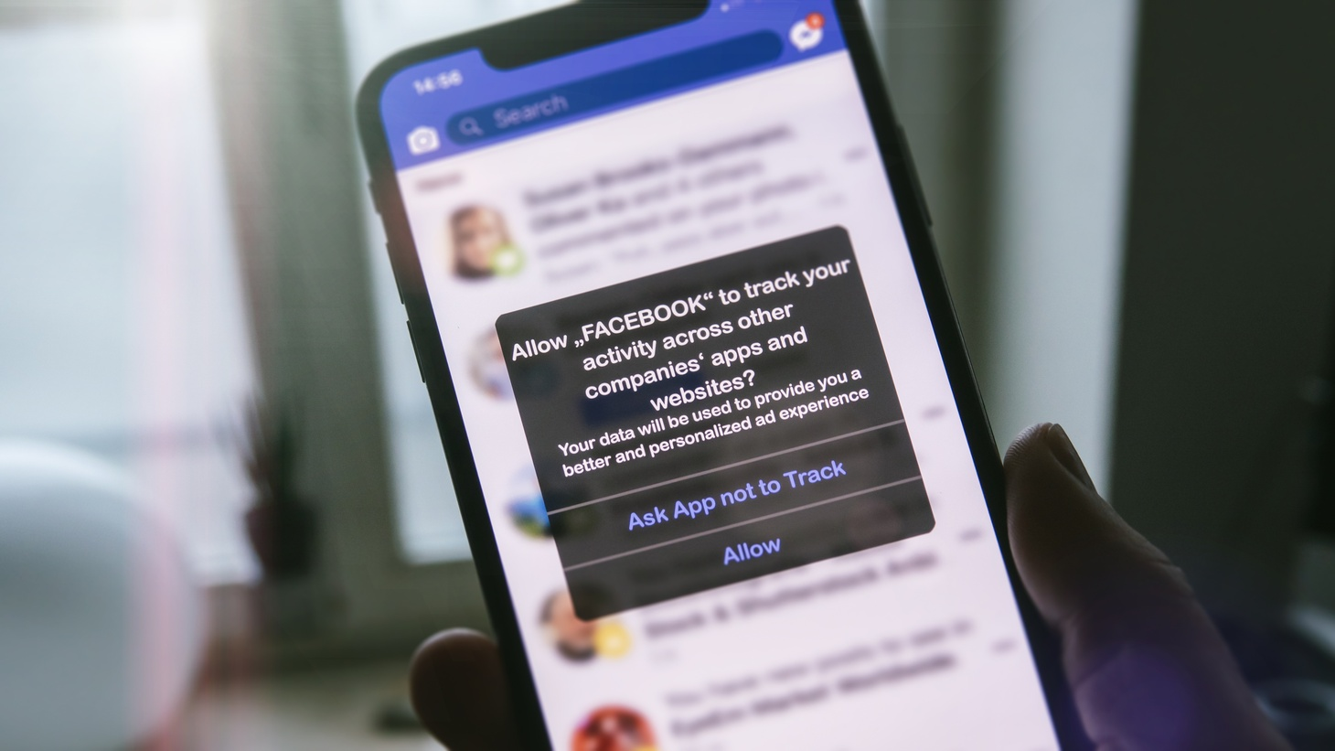 Starting this week, a new update on Apple devices will let users decide whether apps like Facebook can track their data.