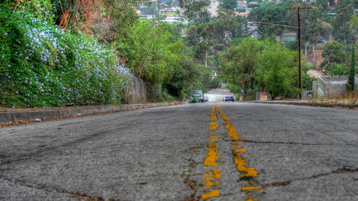 Baxter St. in Echo Park is steep and scary. Daredevil skateboarders take it on, and some unsuspecting drivers are sent there by Waze. Residents are fed up with the traffic and accidents. They met with the city to try to come up with solutions.