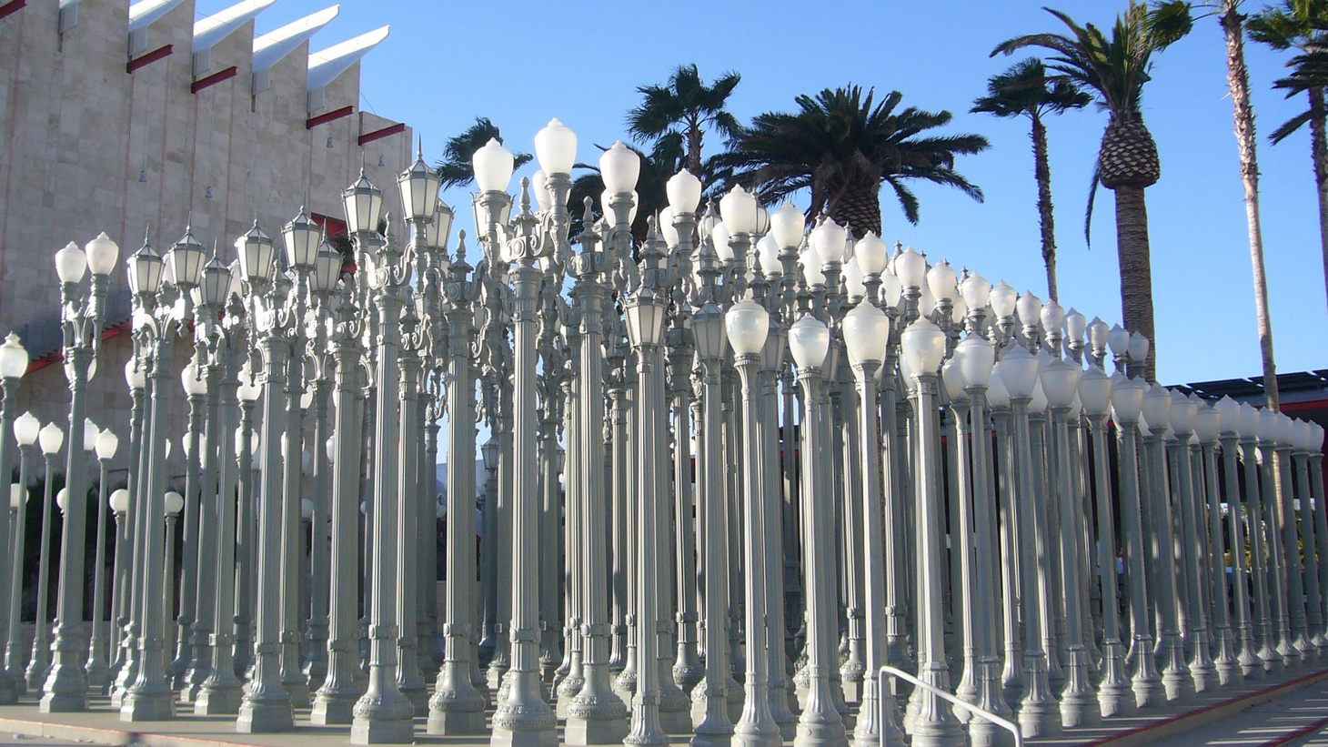 """Los Angeles conceptual artist Chris Burden died over the weekend in his Topanga home. He was 69. Burden is best known for his piece """"Urban Light,"""" the collection of street lights in front of LACMA that look like the Parthenon. We look back on his life and work."""