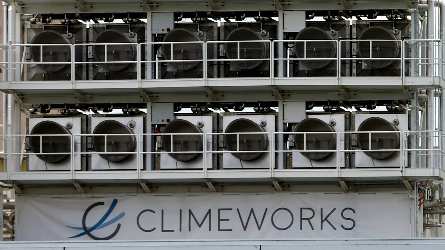 Swiss Climeworks AG has developed this facility to capture CO2 from the air. The device is in Hinwil, Switzerland, July 18, 2017.
