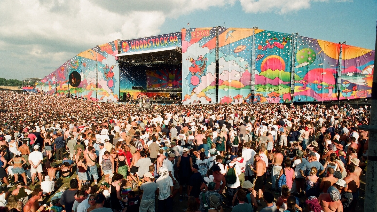 The 1999 Woodstock music festival was held in Rome, New York, on a decommissioned Air Force base.