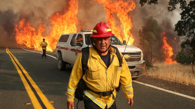 California is still struggling to contain about two dozen major fires that have so far burned more than 3 million acres of the state.