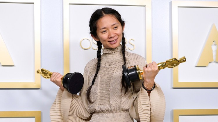 In Zhao's native China, mentions of her Oscars night were reportedly scrubbed from the internet and social media, and the state-run media barely reported on the awards ceremony.