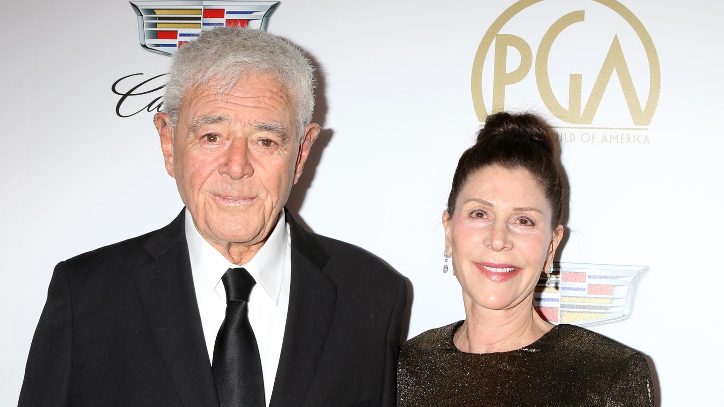 Richard Donner and Lauren Shuler Donner appear at the 2019 Producers Guild Awards at the Beverly Hilton Hotel on January 19, 2019 in Beverly Hills, CA.