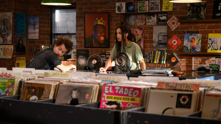 """The TV show """"High Fidelity"""" stars Zoe Kravitz as a biracial, bisexual woman named Rob. Her character runs a record shop, makes top-five lists, and tries to figure out her love life."""