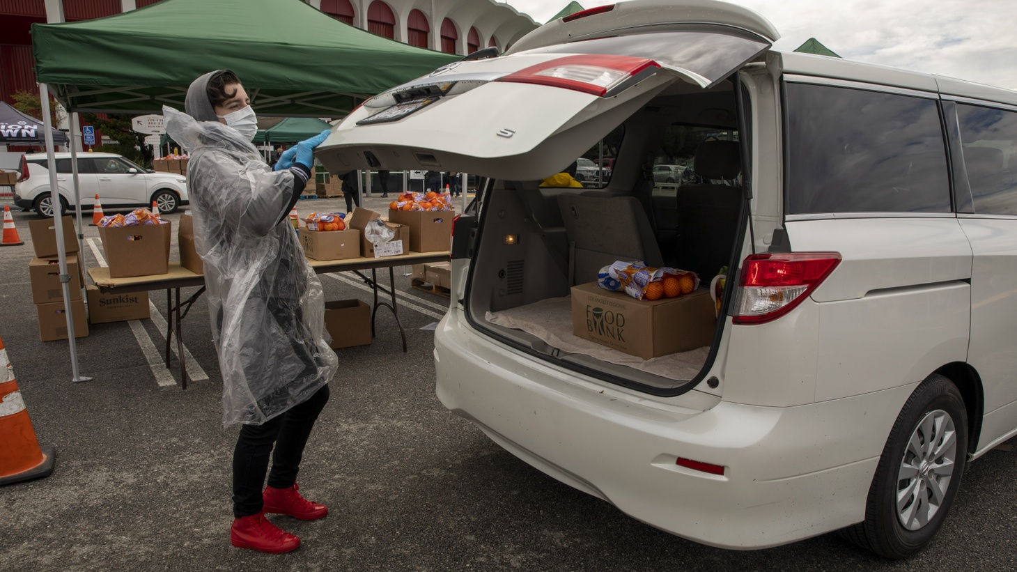 Last week, the LA Regional Food Bank was at the Forum, where thousands of families came for assistance.