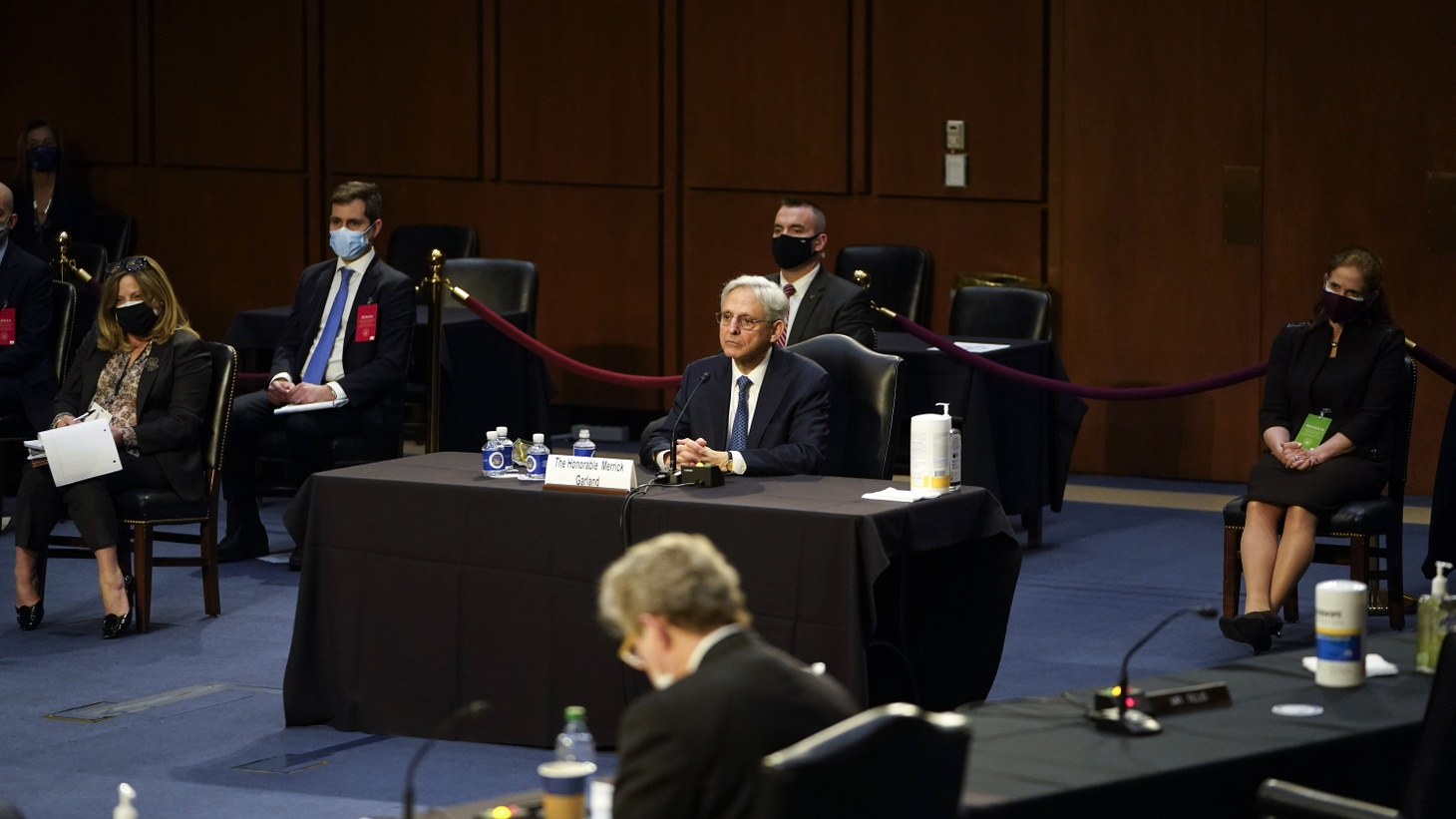 Attorney General nominee Merrick Garland at his confirmation hearing before the Senate Judiciary Committee. Joe Biden formally nominated appellate court Judge Merrick Garland to serve as the nation's chief law enforcement officer on Jan. 7, 2021, the day after the deadly Capitol insurrection.
