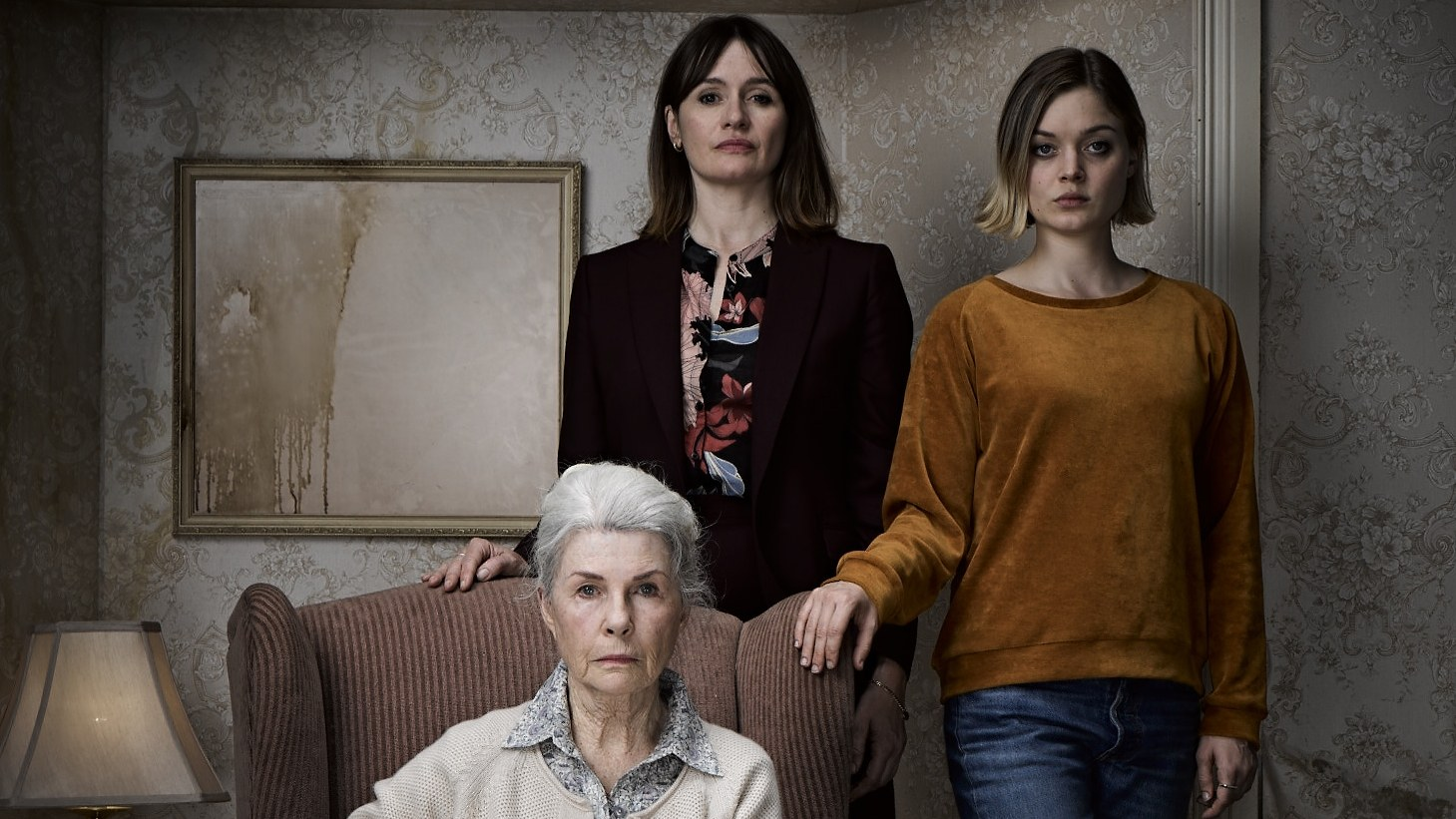 """Robyn Nevin as """"Edna,"""" Emily Mortimer as """"Kay,"""" and Bella Heathcote as """"Sam"""" in """"Relic."""""""