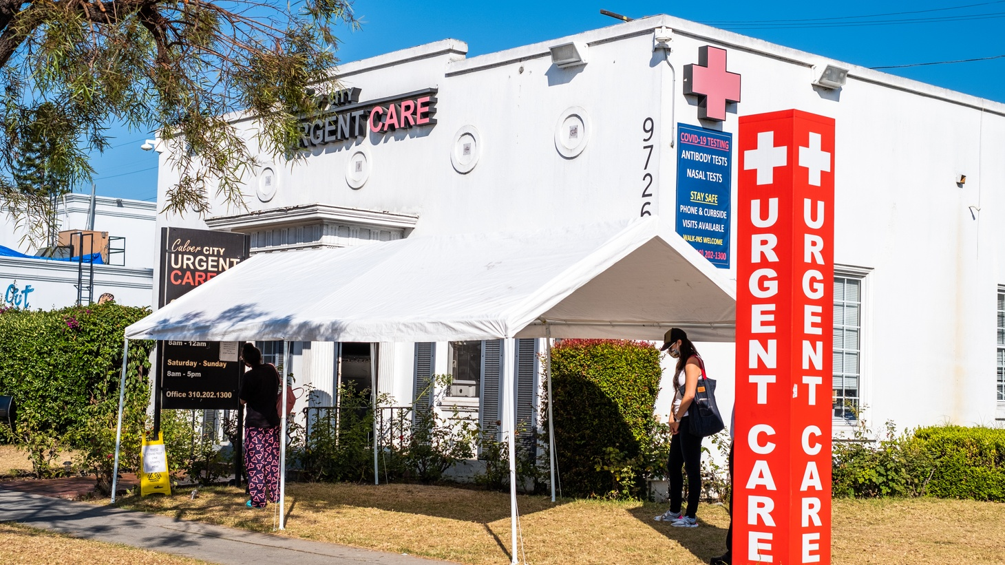 Culver City Urgent Care provides nasal tests and antibody tests for COVID-19. Los Angeles remains the epicenter of the virus with more than 2,000 new cases on Tuesday, November 10, 2020.