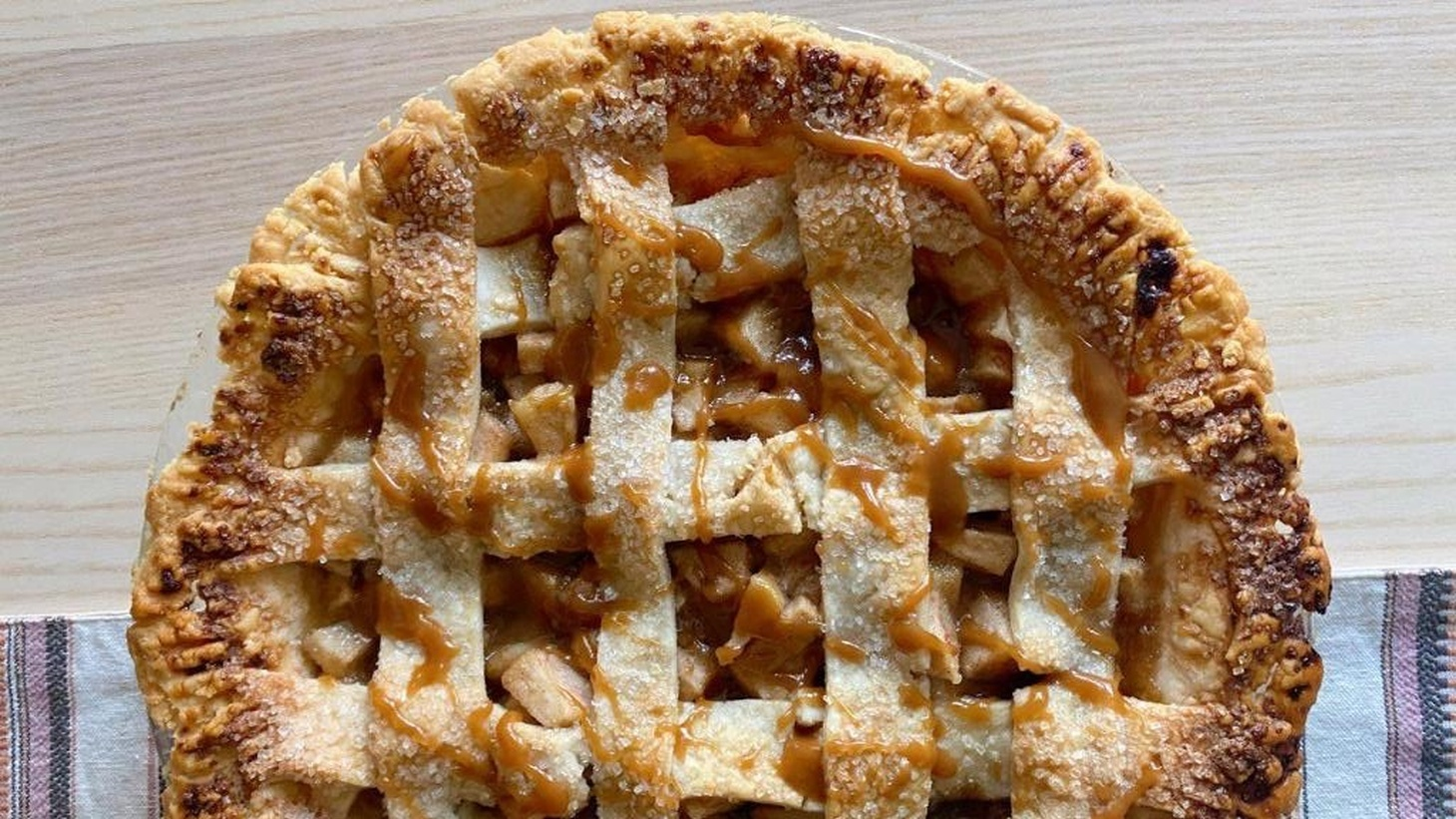 A pie baked by LA resident Caroline Kaufmann, who uses Instagram to sell her homemade sweets.